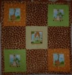 Giraffe crib quilt