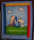Peanuts crib quilt