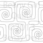Geometric Swirls © Benay Derr Beany Girl Quilts